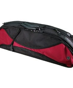 Gewa 307V Sports Style Half-Moon 4/4 Violin Case with Red-Black Exterior and Black Interior